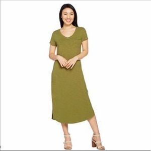 C. Wonder Essential Slub Midi Dress QVC